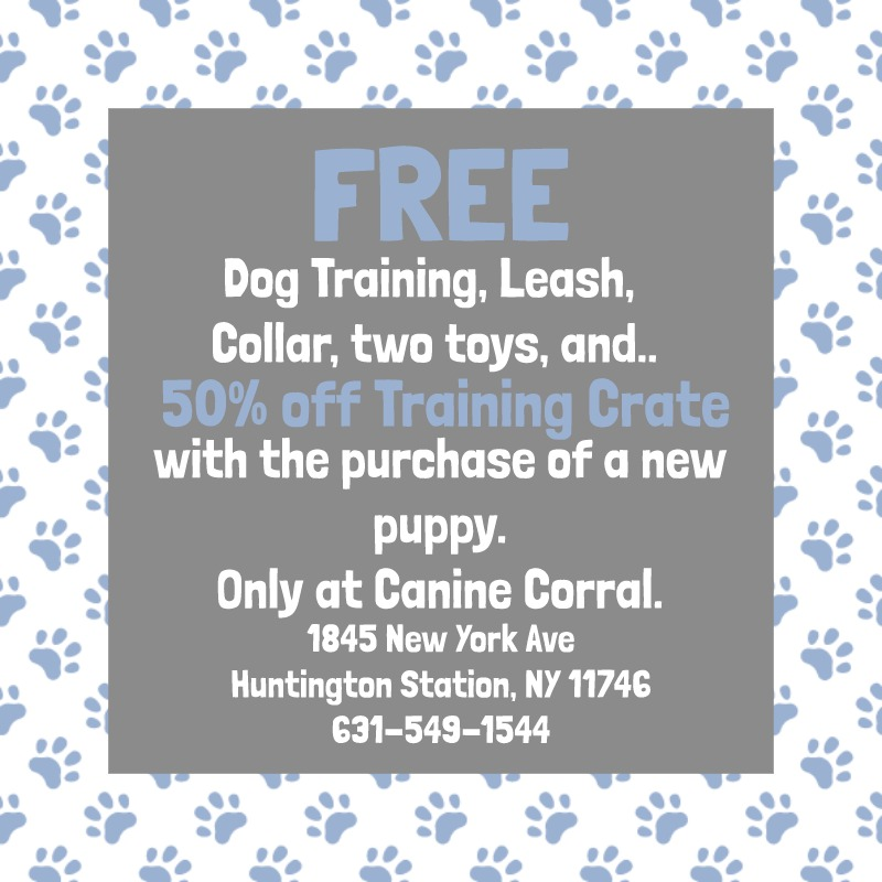 coupon for free items with the purchase of a puppy